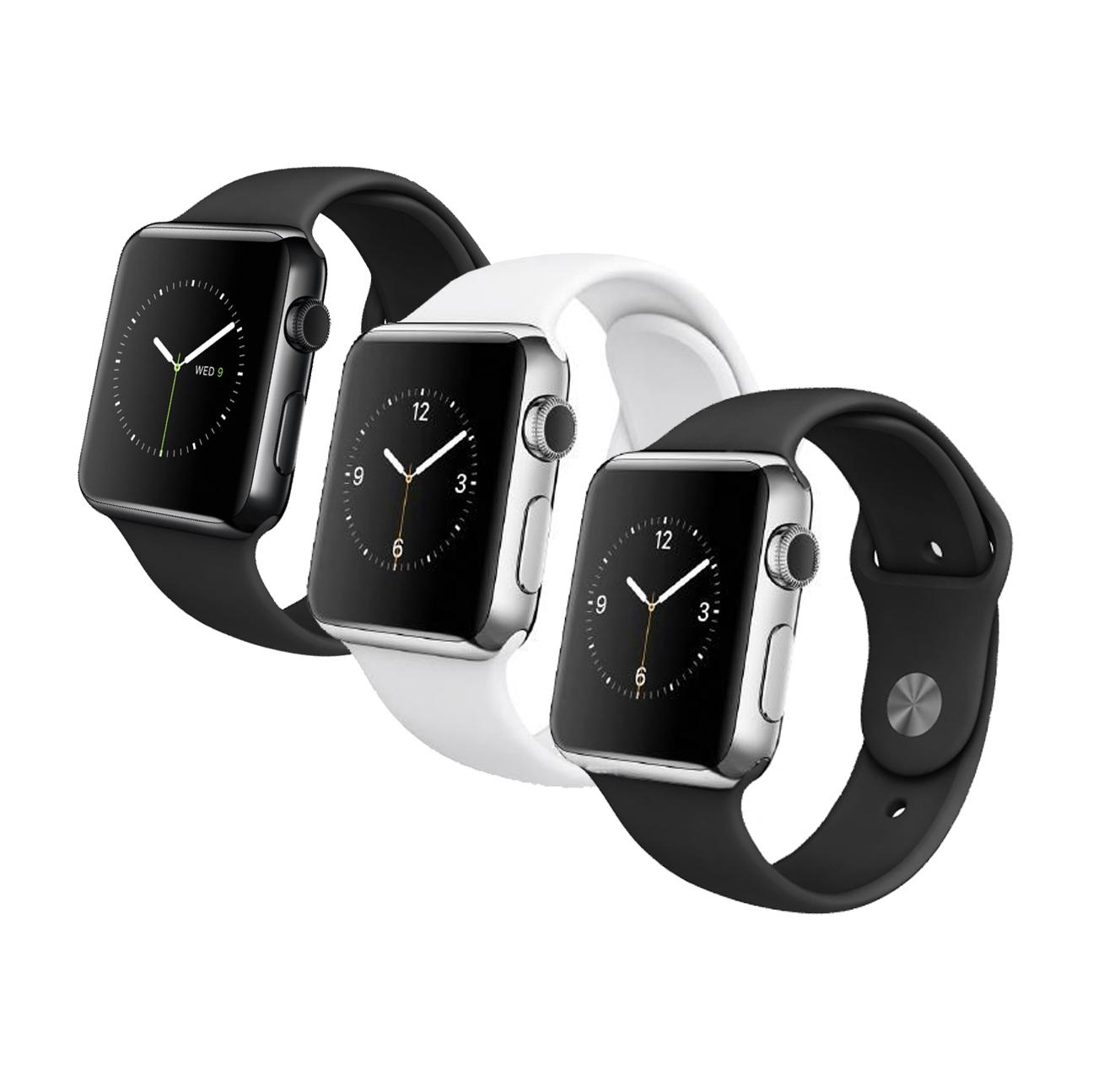 apple watch edelstahl 38mm 42mm mj3u2fd a ios smartwatch. Black Bedroom Furniture Sets. Home Design Ideas