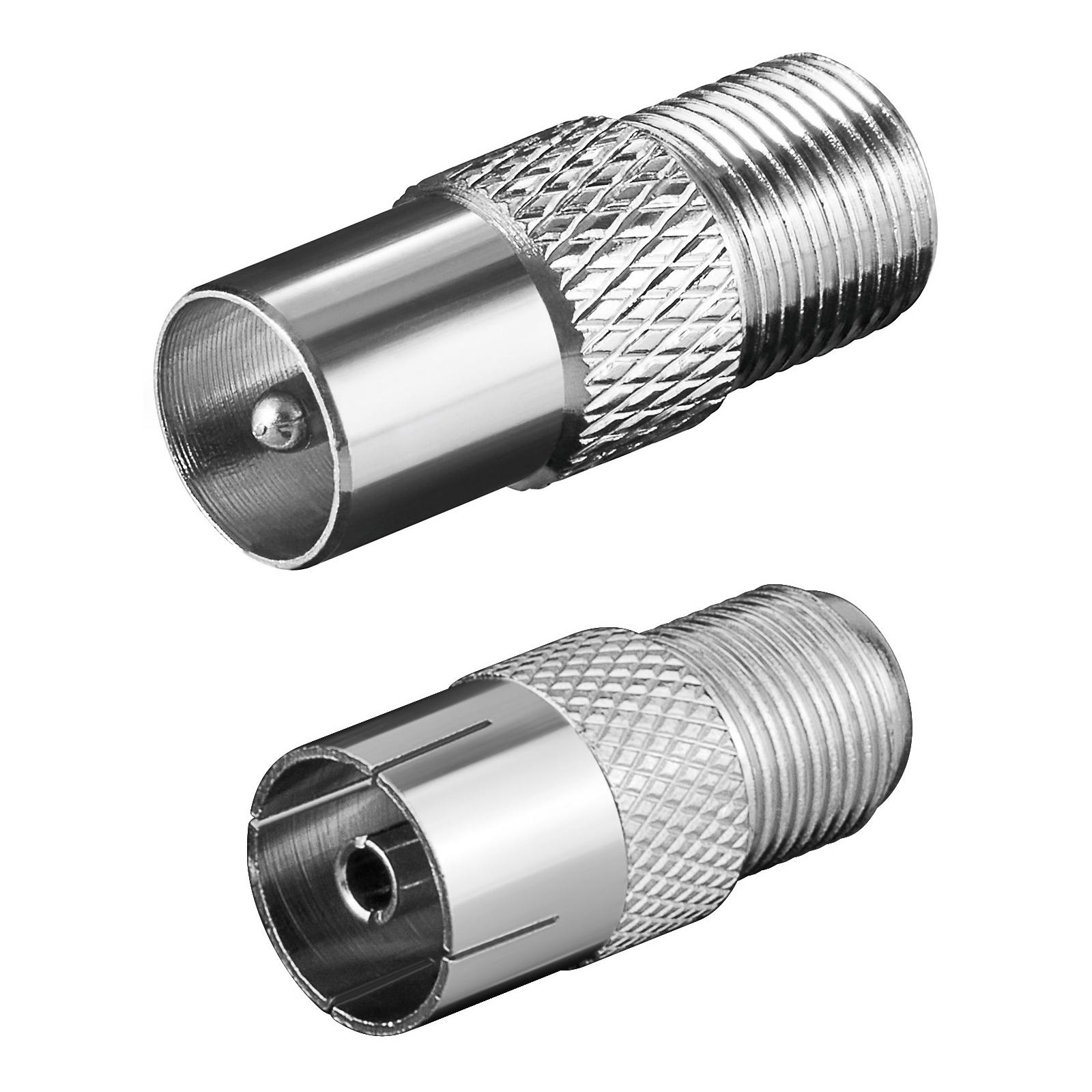 2er f stecker adapter set f r koaxial stecker antennenstecker kupplung buchse ebay. Black Bedroom Furniture Sets. Home Design Ideas