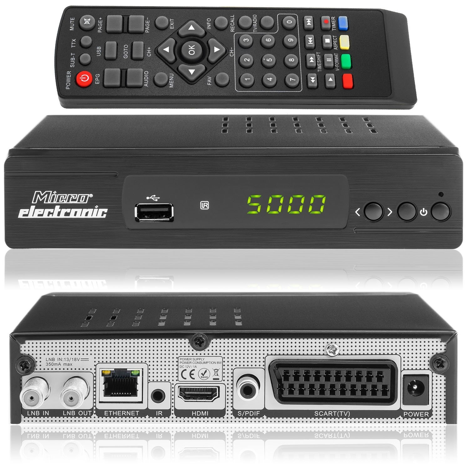 micro electronic m380 plus hd 1080p full hd sat receiver lan scart 12v camping 4250368420323 ebay. Black Bedroom Furniture Sets. Home Design Ideas