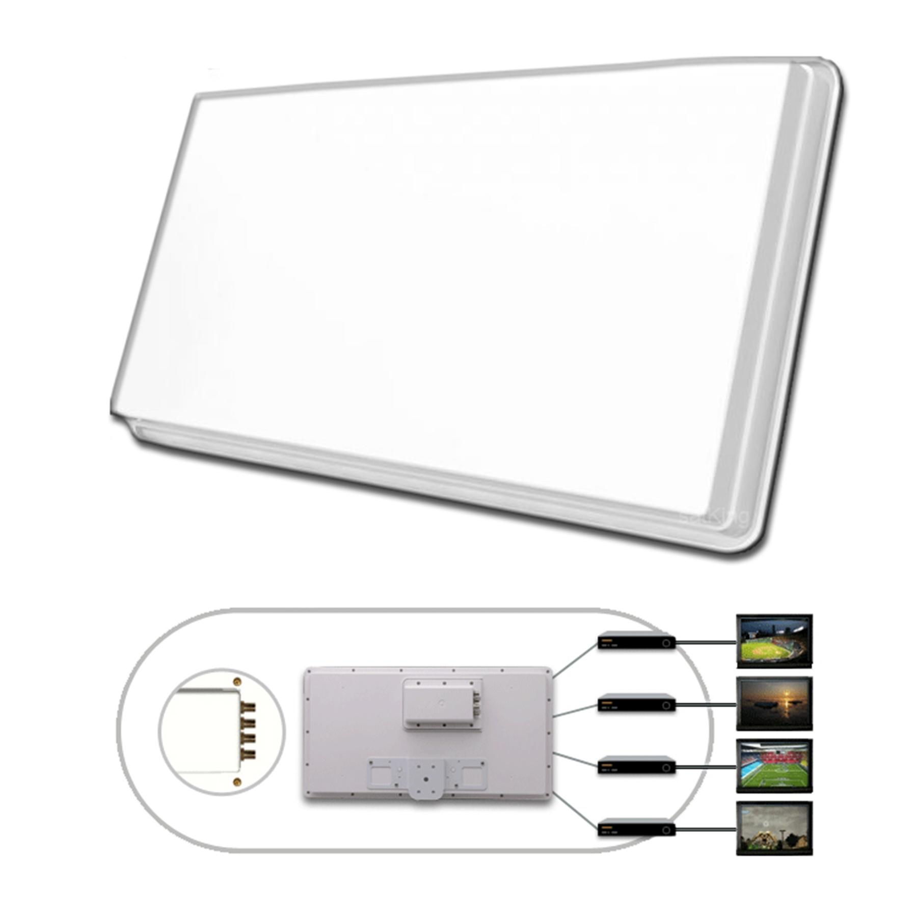 selfsat h30d4 flachantenne 4 teilnehmer quad sat spiegel. Black Bedroom Furniture Sets. Home Design Ideas