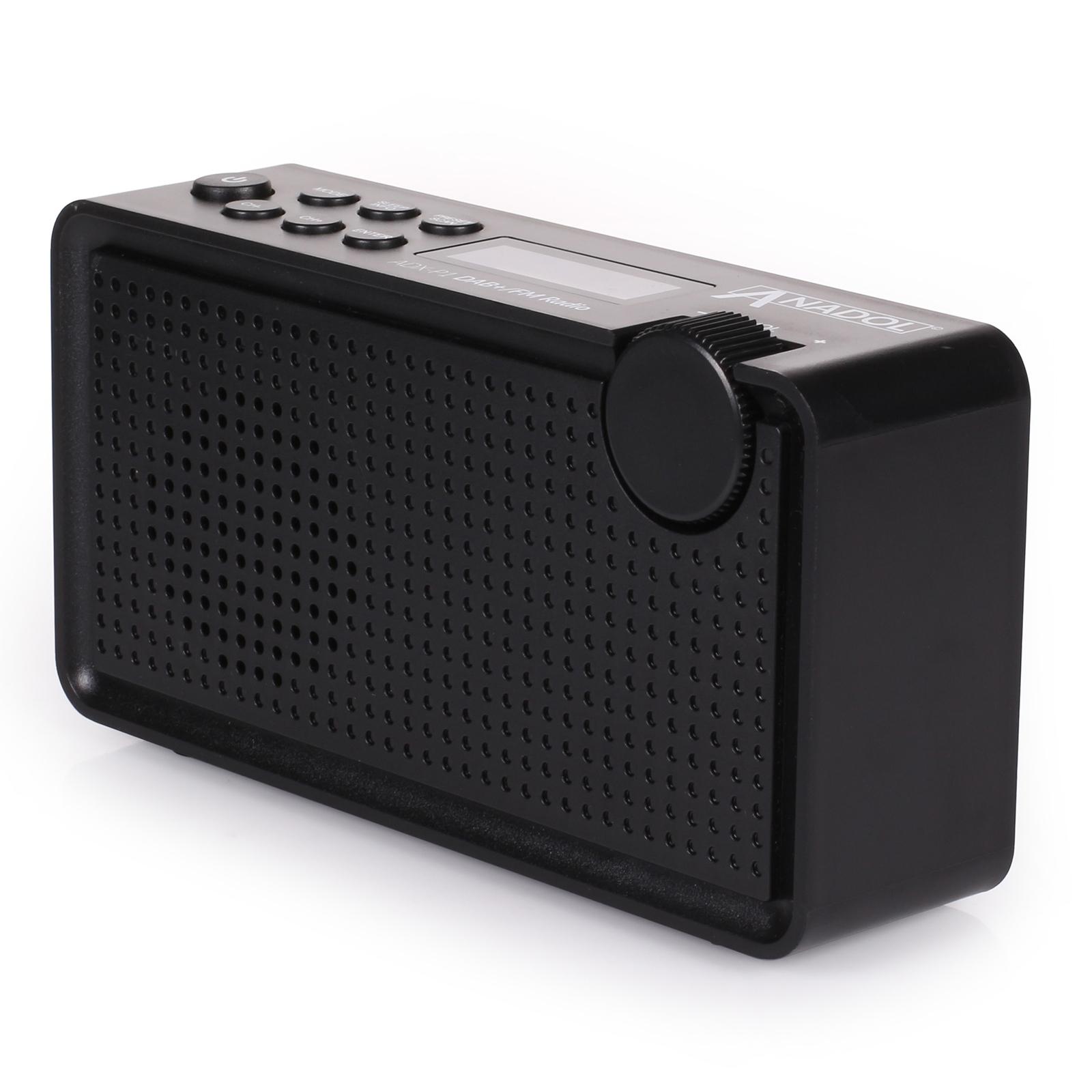 dab dab plus radio anadol digital analog ukw fm geeignet tragbar akku schwarz ebay. Black Bedroom Furniture Sets. Home Design Ideas