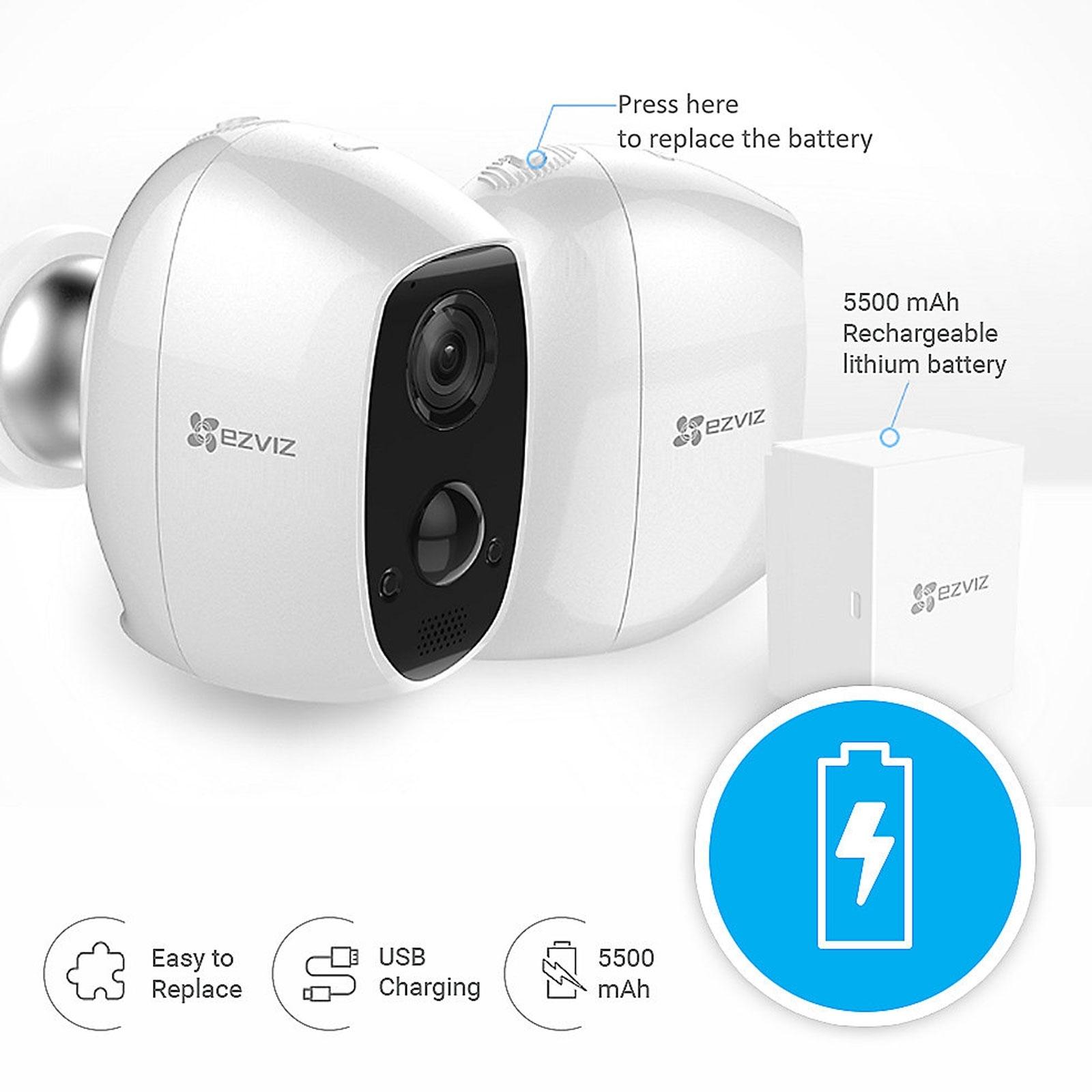 ezviz c3a wlan outdoor 1080p berwachungskamera akku ip65. Black Bedroom Furniture Sets. Home Design Ideas