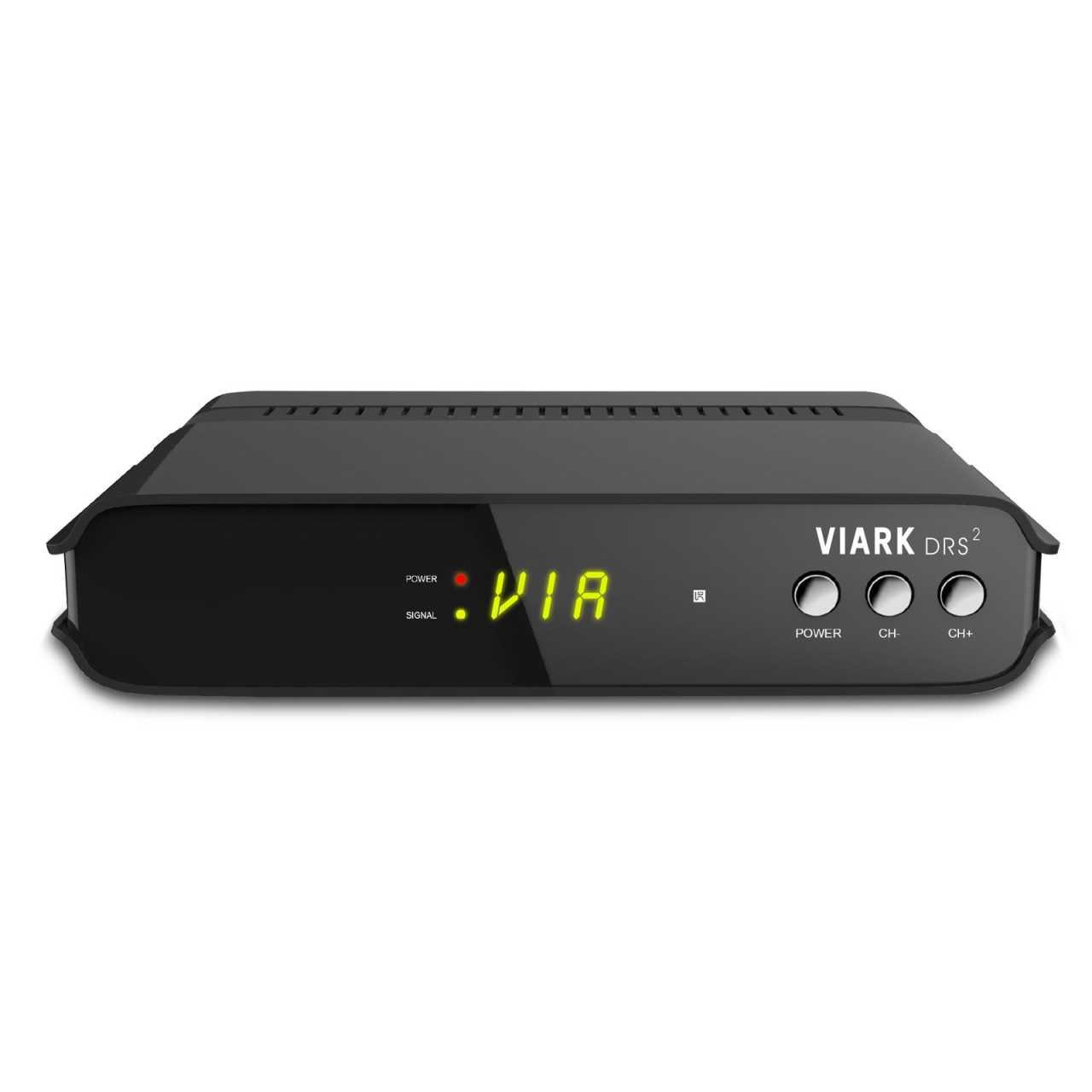 Viark DRS2 4K 2160p H.265 Android 7.0 Wifi DVB-S2 Multistream Sat Receiver Schwarz RECVIA007