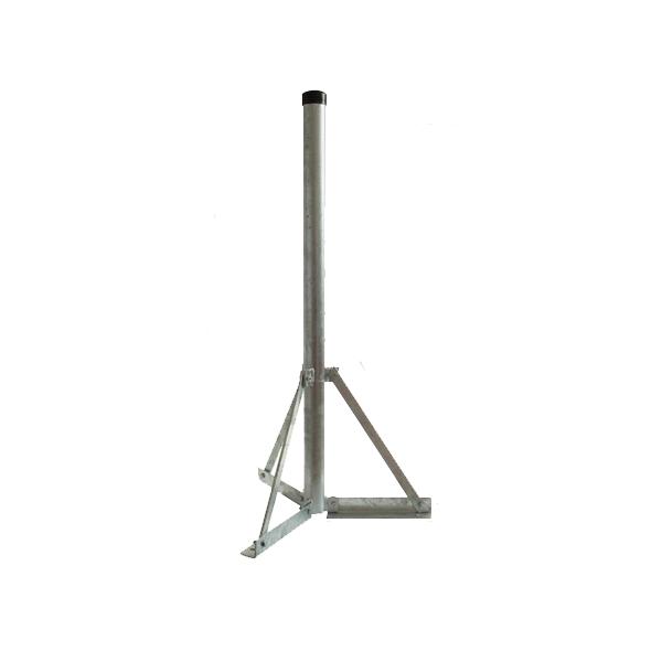 Baff Balkonständer BS-60 Kreuzfuß Flachdach 48mm 100cm Mast MONWAN-101