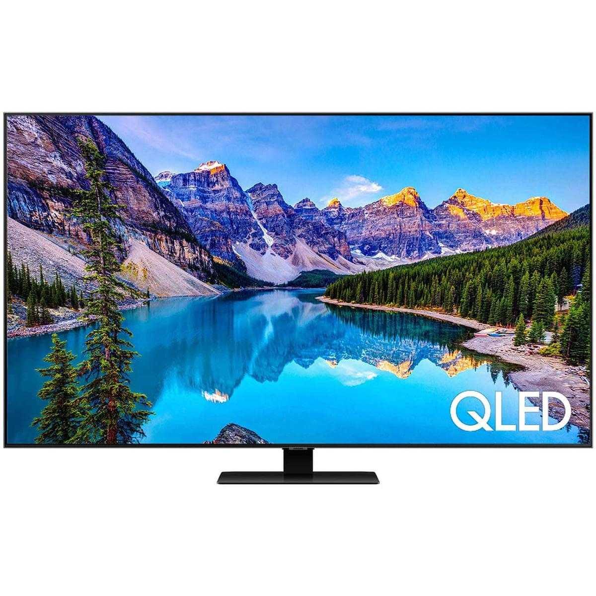 Samsung 55Q80T 55 Zoll (138cm) 4K Ultra HD 3800 PQI Flat QLED Smart TV Triple Twin Tuner, Silber LED55Q80T