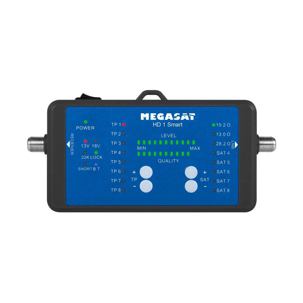 Megasat HD 1 Smart Sat Messgerät Bluetooth App Steuerung inkl. 10.000mAh Powerbank MONMES066
