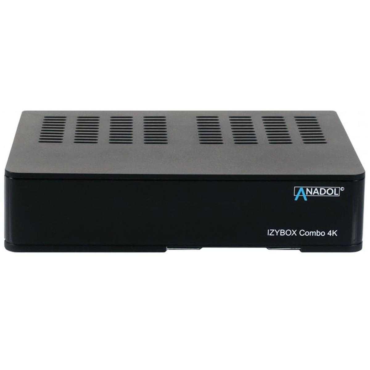 Anadol IZYBOX Combo 4K UHD DVB-S2/C/T2 H.265 HEVC HDMI USB LAN Sat & Kabel Receiver Schwarz RECANA015