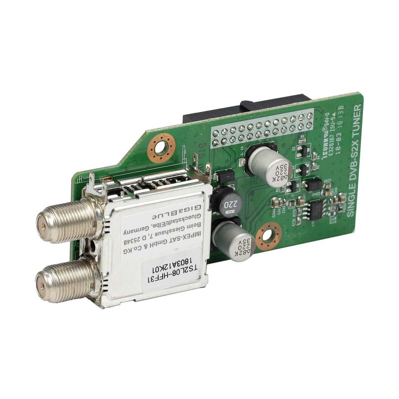 GigaBlue DVB-S2X Single Multistream HD Tuner für Gigablue UHD Quad 4K, UE UHD 4K, X2 HD Receiver GIGZUB010