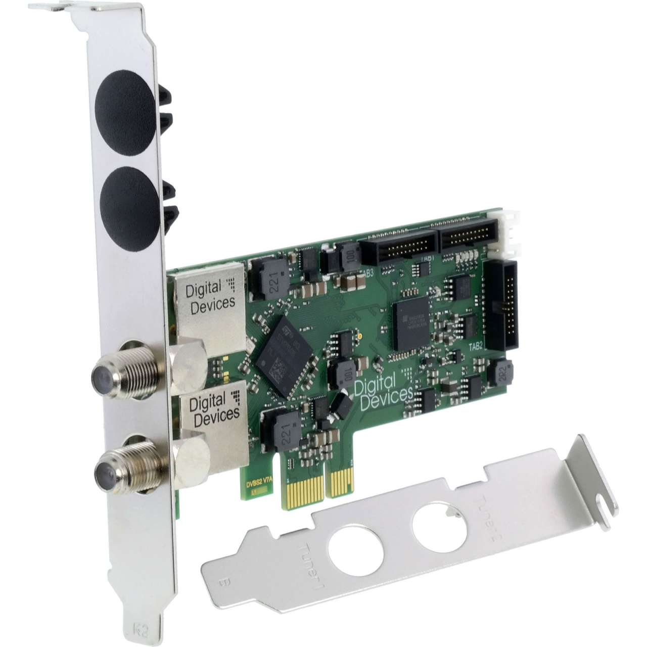 Digital Devices DD Cine S2 V7 Twin Tuner TV Karte DVB-S/S2 PCI Express Karte TVDVBS016