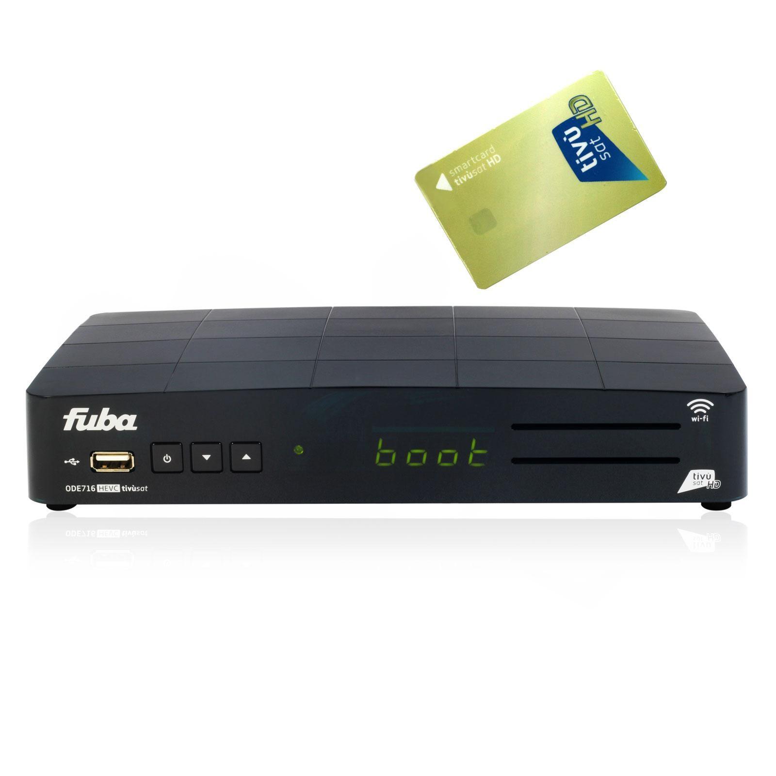 Tivusat Karte.Fuba Ode 716hd Wifi Tivu Full Hd Hevc Sat Receiver Tivusat Card