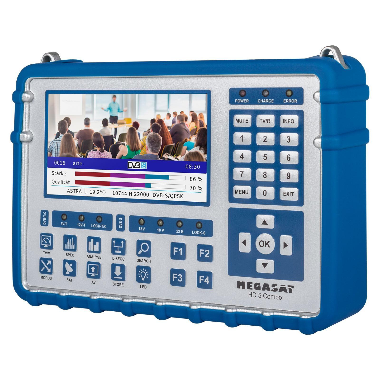 Megasat Sat Messgert Hd 5 Combo Oled Dvb S2 S2x C T2 Kabel 12v 038 5v Power Supply Multistream Finder Satking Gmbh