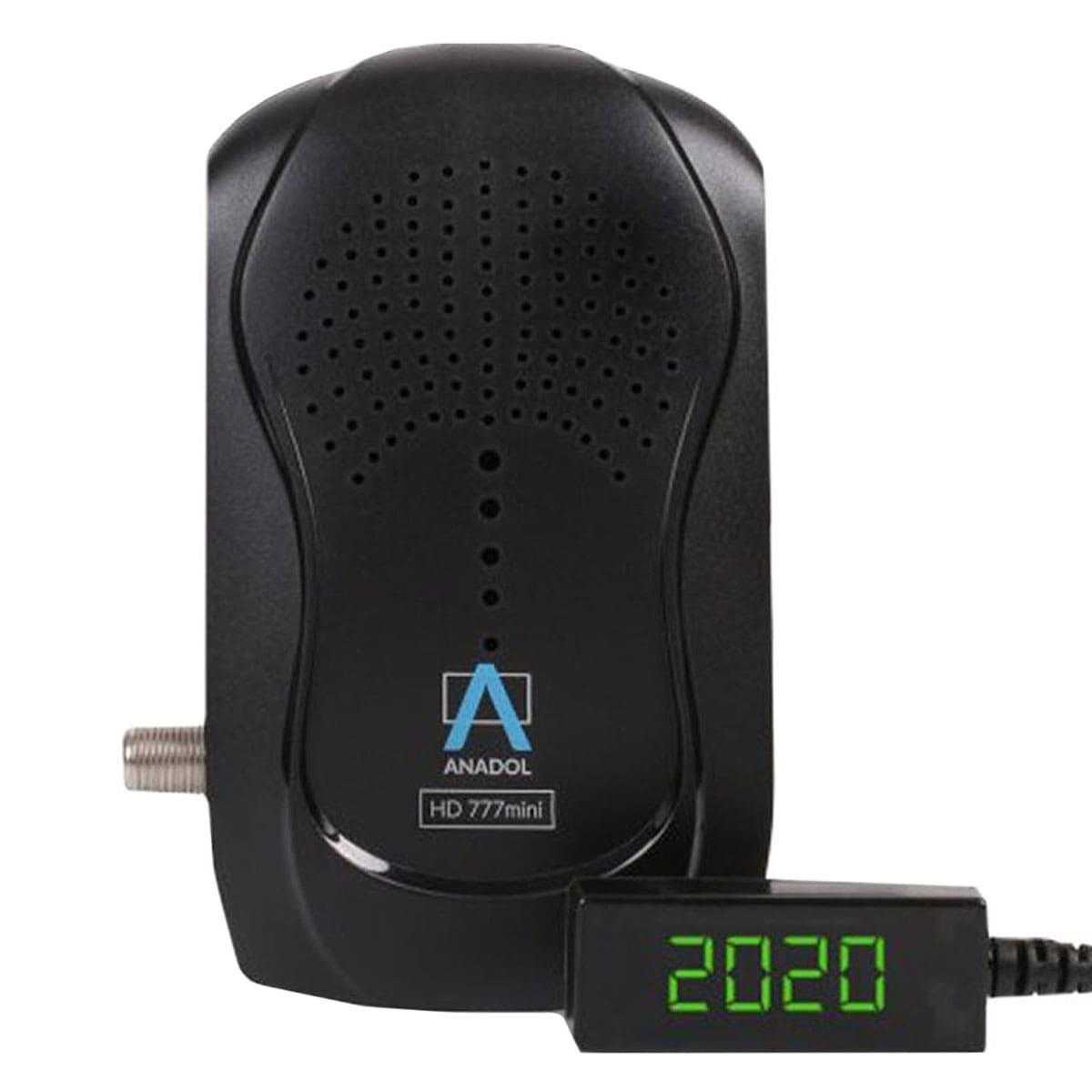 Anadol HD 777 Mini Full HD 1080p HDMI USB mit PVR 1x DVB-S2 Sat Receiver Schwarz RECANA013