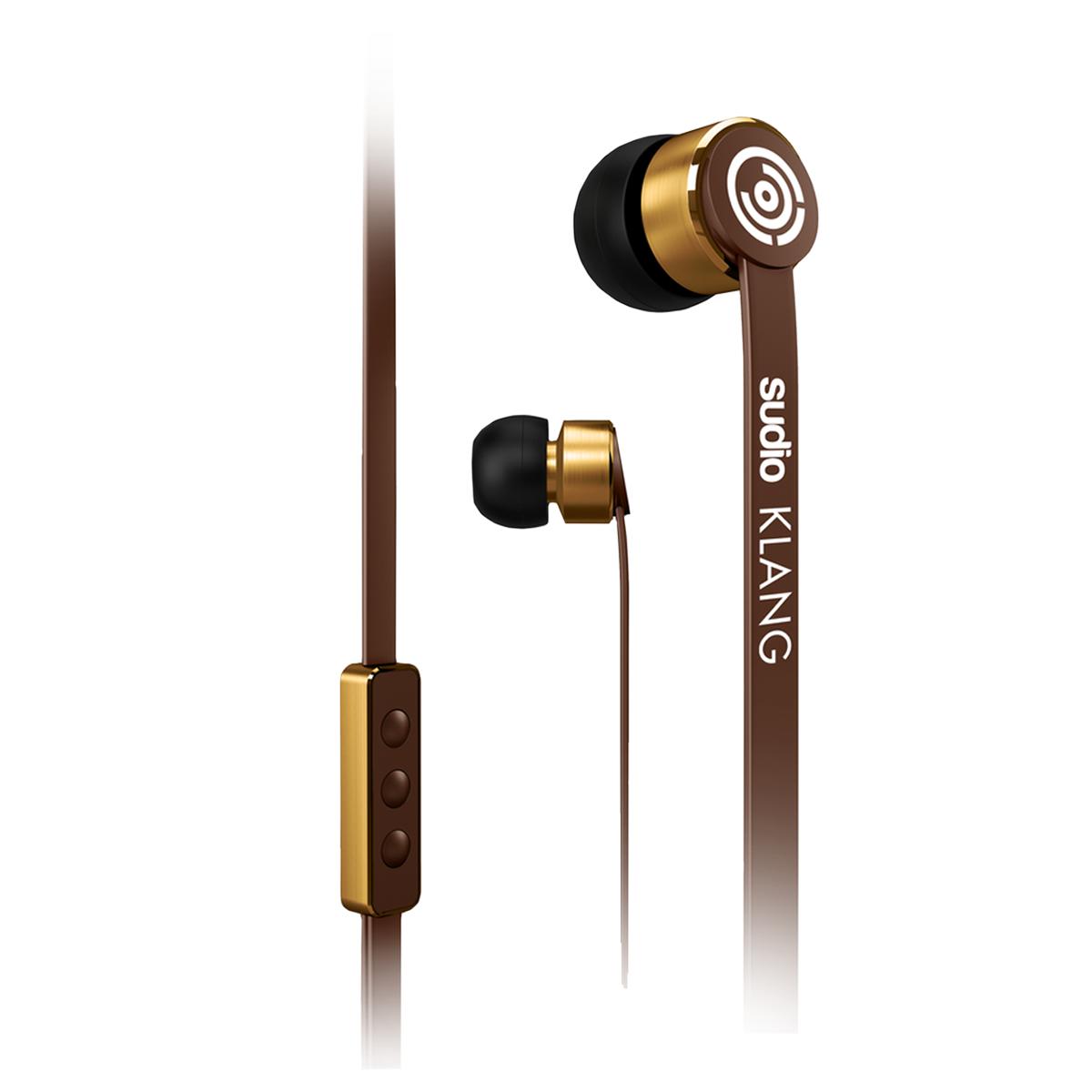 Sudio Klang In Ear Kopfhörer Apple iOS Remote Control Braun SOUHEA139