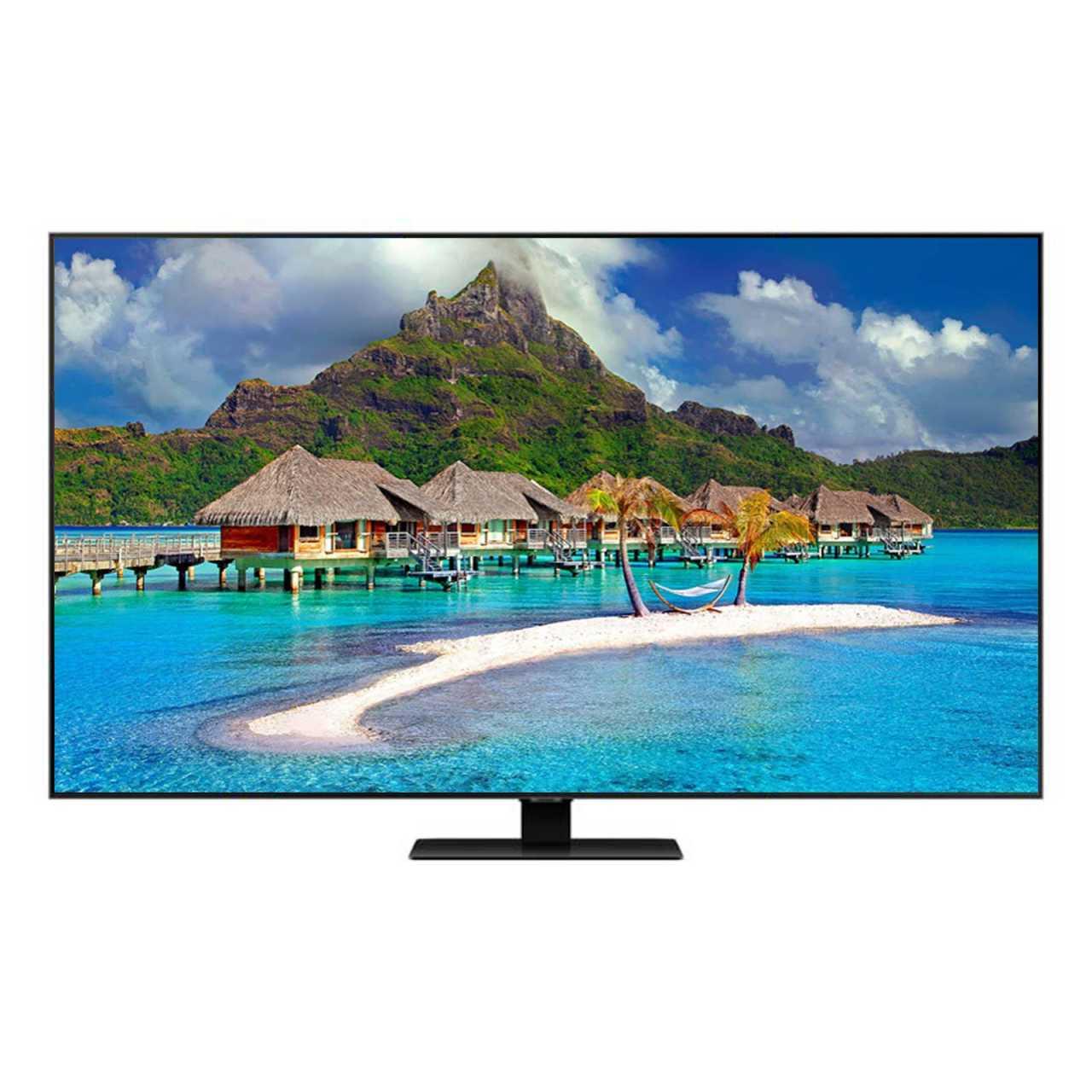 Samsung 75Q80T 75 Zoll (189cm) 4K Ultra HD 3800 PQI QLED Smart TV Tripple Twin Tuner Carbonsilber LED75Q80T