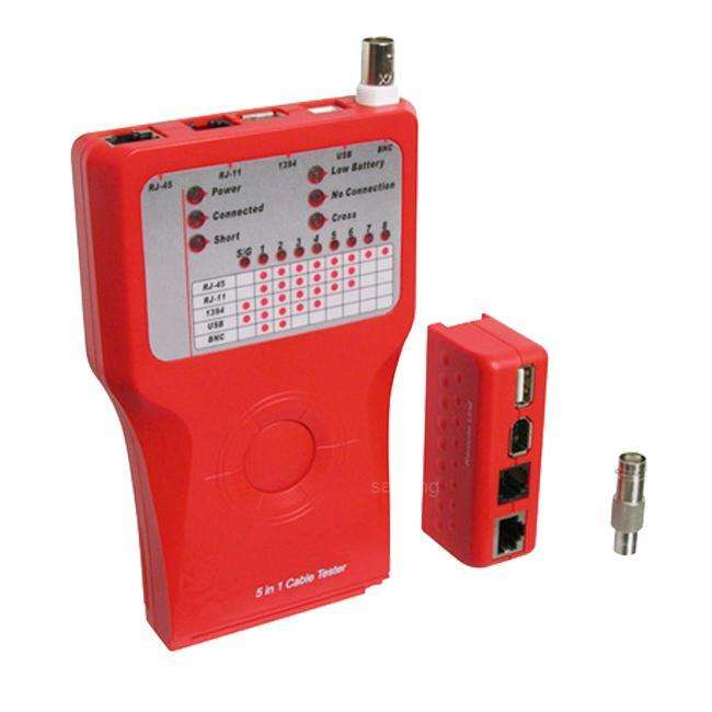 Goobay Leitungs- Netzwerktester für RJ45, Cat, BNC, USB usw. NETZUB-008
