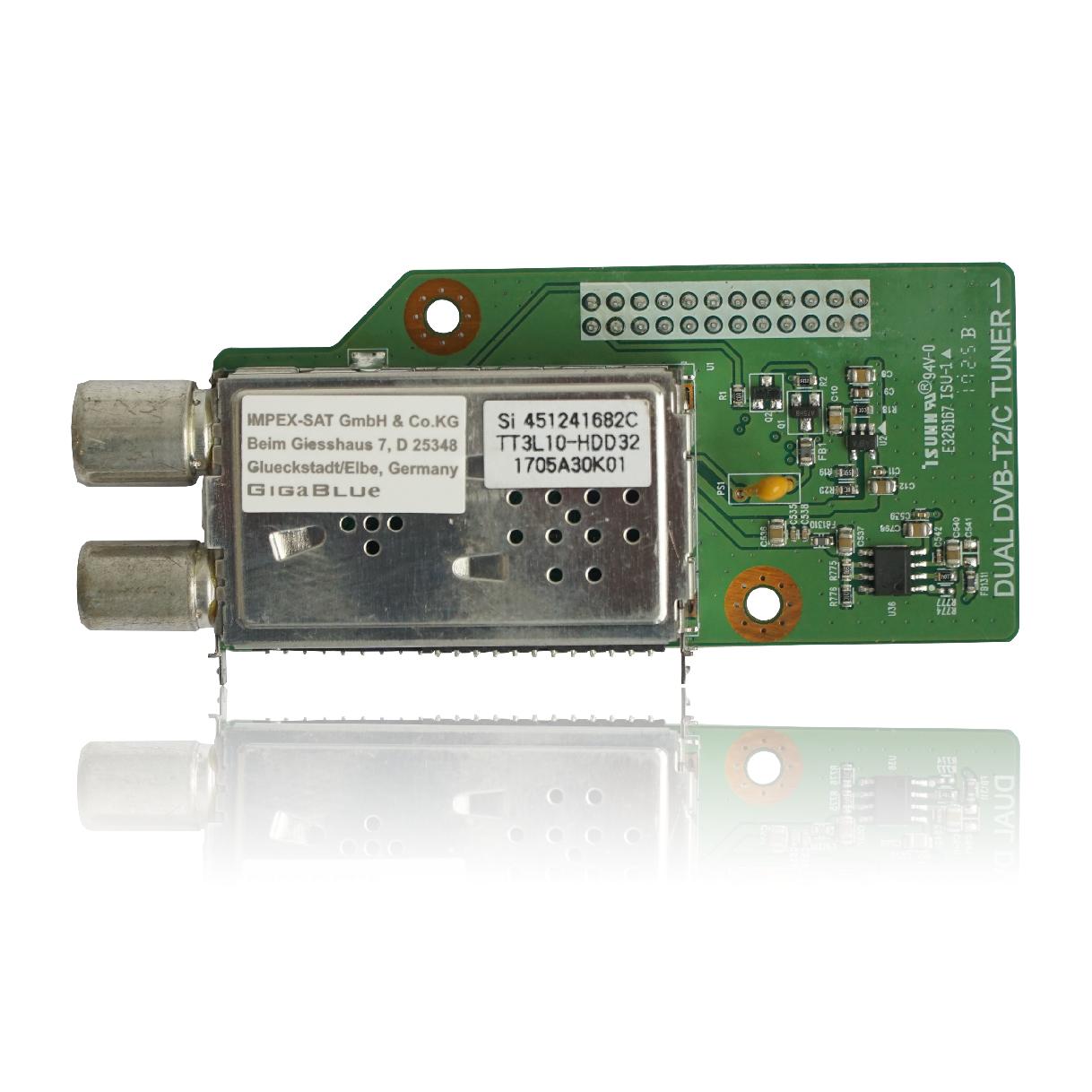 GigaBlue DVB-C/T2 Dual HD Tuner H.265 für Gigablue HD X2, UHD QUAD 4K, UE 4K, IP 4K UHD Receiver GIGZUB008
