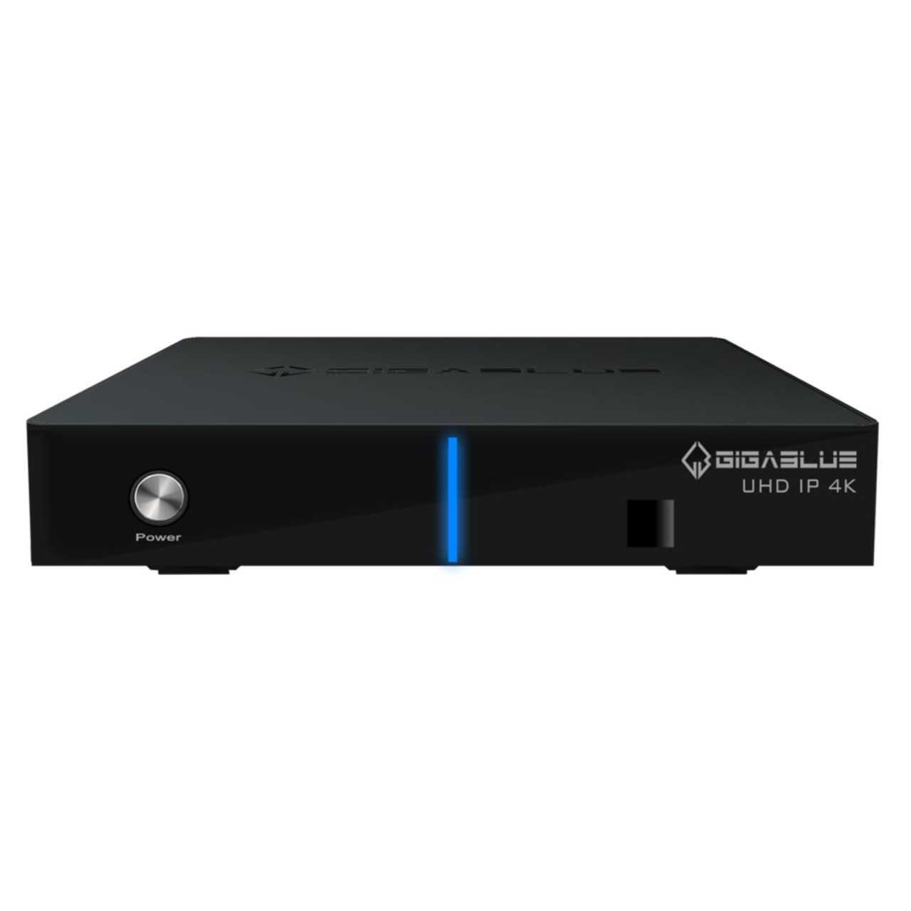 GigaBlue UHD IP 4K USB HDMI SD Karte 1x DVB-C/T2 Dual Tuner H.265 Multiroom Receiver Schwarz RECGIG044