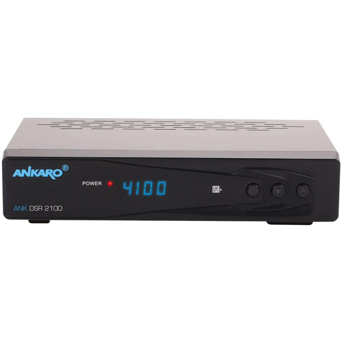 Ankaro ANK DSR 2100 Digitaler 1080p Full HD USB HDMI PVR DVB-S2 Satelliten Receiver Schwarz RECANK002