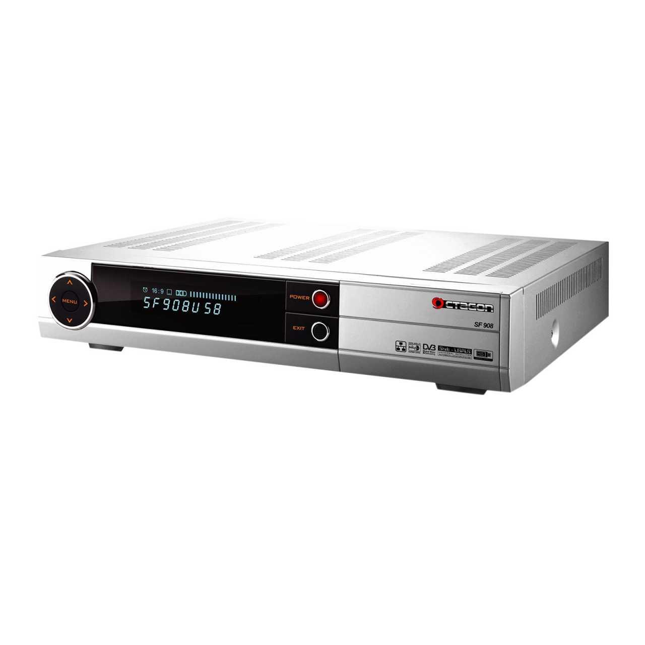 Octagon SF908 SD CI-Schacht, PVR, USB, 2x Scart Digitaler Satelliten-Receiver Silber RECOCT-014