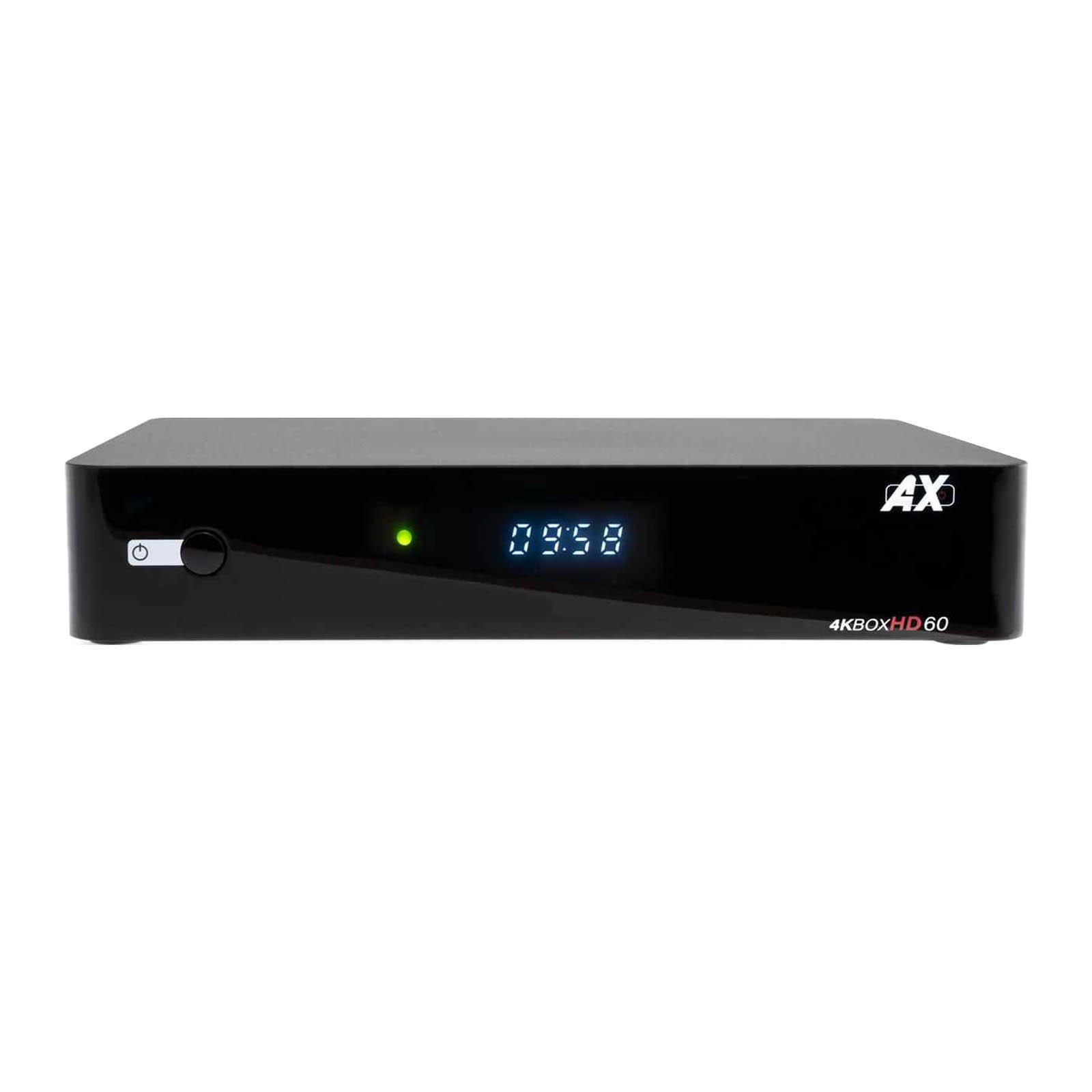 AX 4K-Box HD60 4K UHD 2160p E2 Linux + Android DVB-S2X Sat Receiver