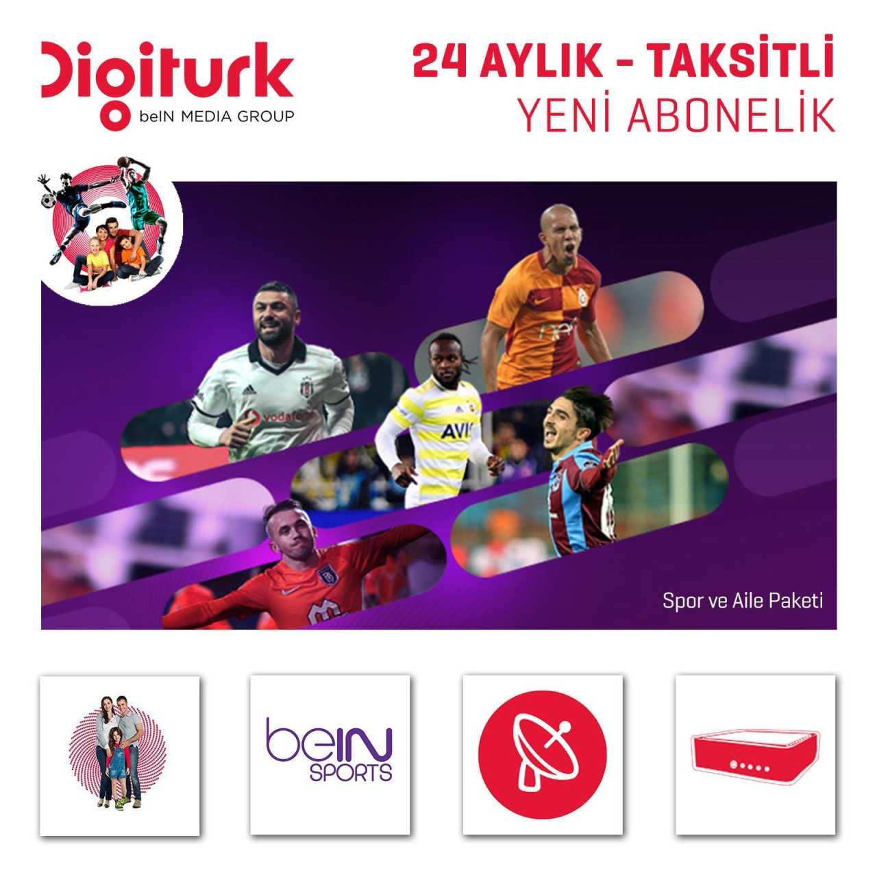 Digitürk Digitürk SAT HD beIN Sports & Familienpaket - Monatlich 16,90? - 24 Monate Abo ABODIG032