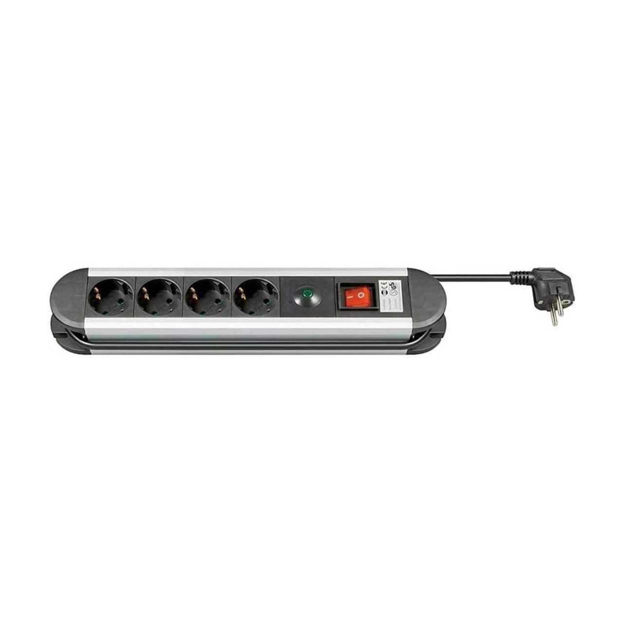 Goobay Steckdosenleiste 4fach mit Überspannungsschutz 1,4m ENESTE050