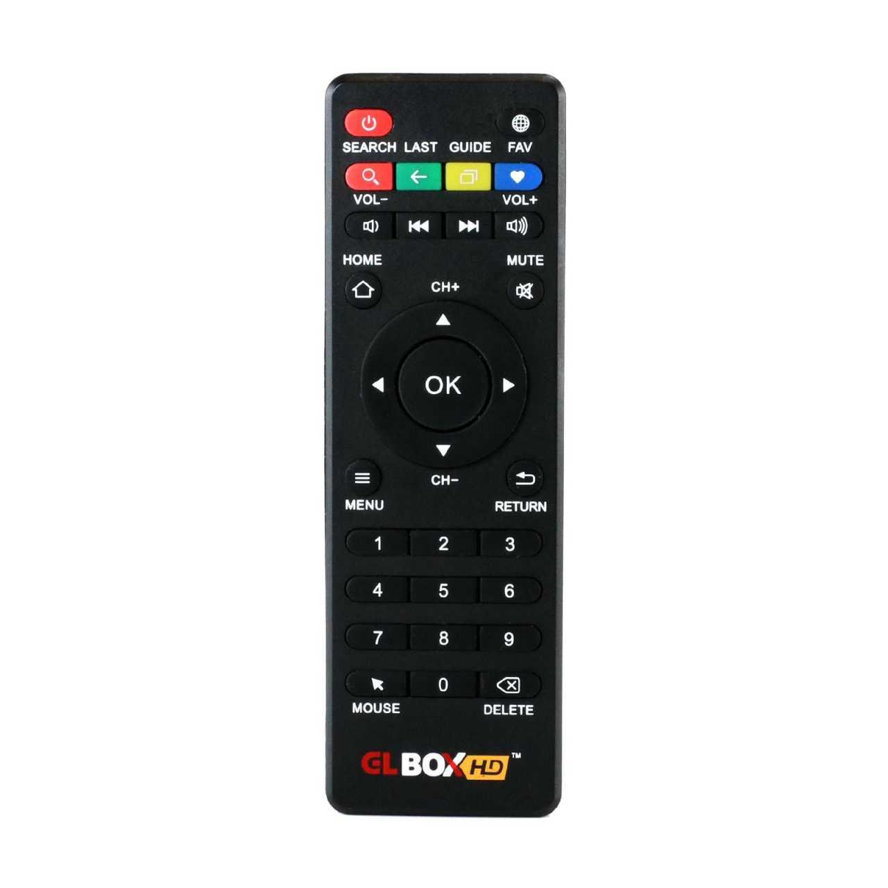 GLWIZ Original Fernbedienung für GLBOX HD300 IPTV Box Schwarz GLBZUB02