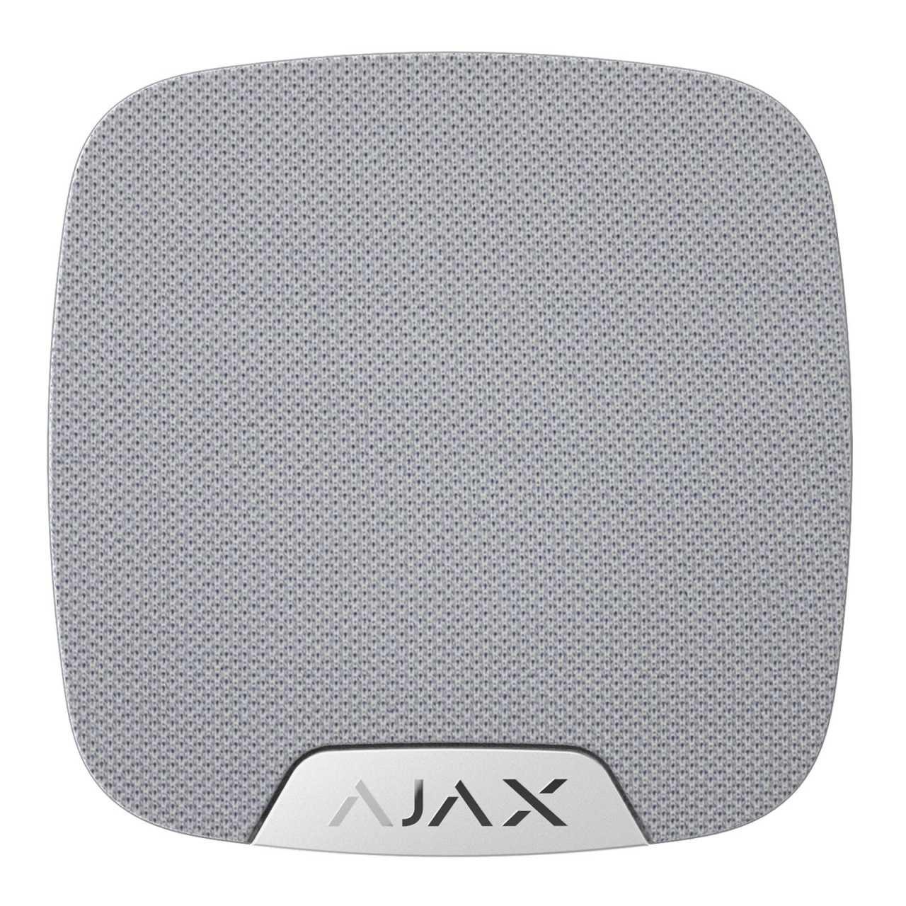 Ajax Systems AJAX Funk Innensirene drahtlose Sirene mit bis zu 105 dB HomeSiren Weiss AJAMEL25