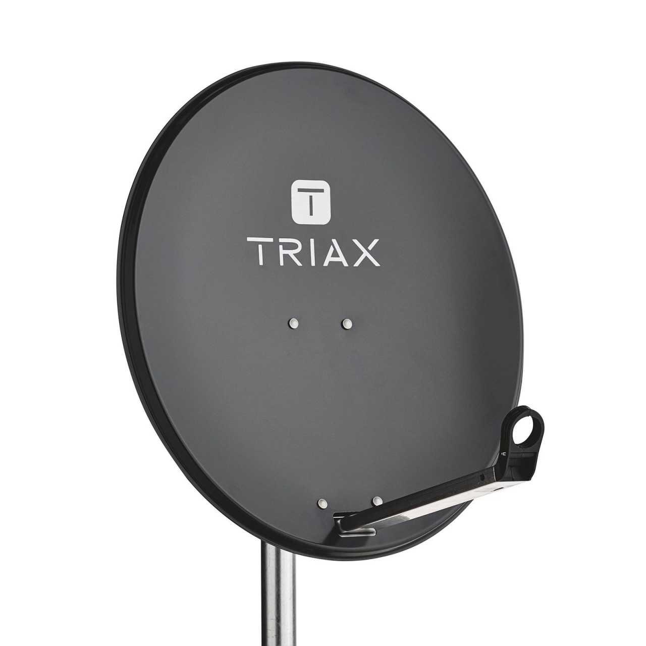 TRIAX TDS 65A Sat Antenne Stahl 65cm Anthrazit Satelliten Spiegel RAL 7016 ANTTRIA01