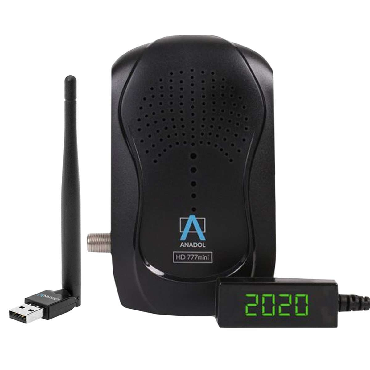 Anadol HD 777 Mini Full HD 1080p HDMI USB PVR Sat Receiver mit Wlan Stick Schwarz RECANA013W
