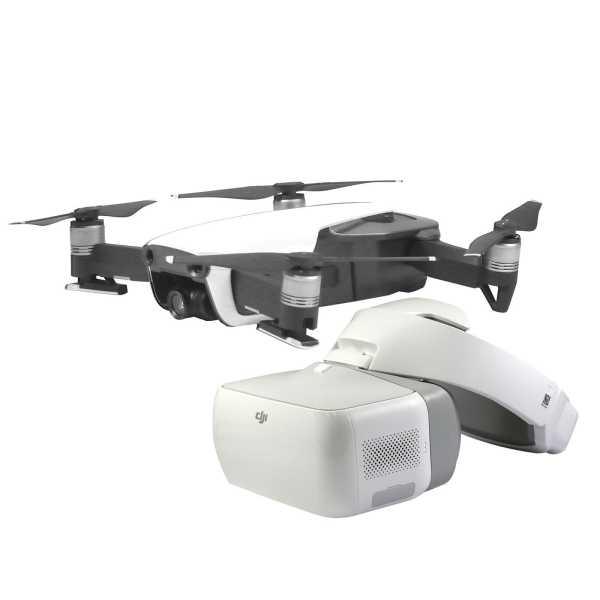 Mavic Air 4K UHD 32 MP Kamera Flugdrone Drohne Faltbar Polarweiss + DJI Goggles Brille