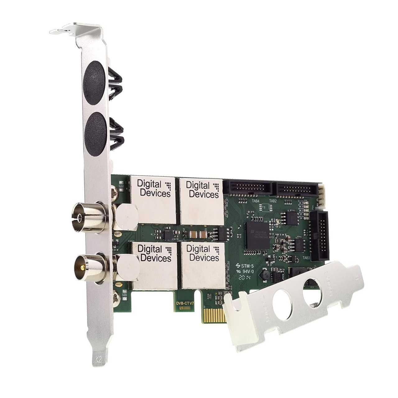 Digital Devices Cine C2/T2I V7 - Twin Tuner TV Karte DVB-C/C2/T/T2/ISDB - Einkabelsystem TVDVBC02