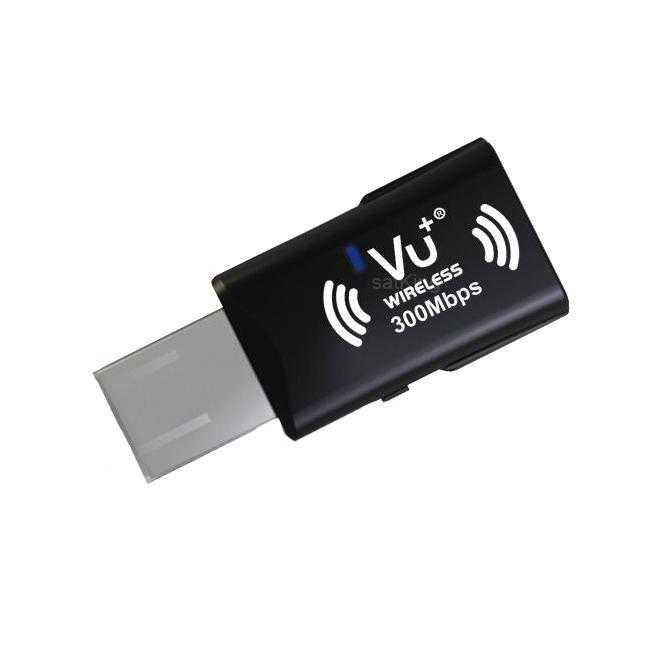 VU+ Wireless USB Adapter 300 Mbps incl. WPS Setup NETWLAN-036