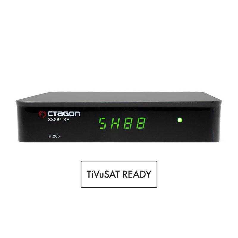 Octagon SX88+ SE Full HD HEVC DVB-S2X SAT+IP Receiver TiVuSat geeignet RECOCT113