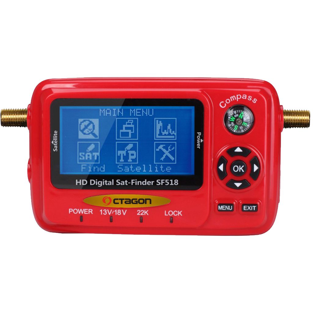 Octagon SF518 LCD HD 4K UHD Satfinder Messgerät USB Spektrum MONMES051