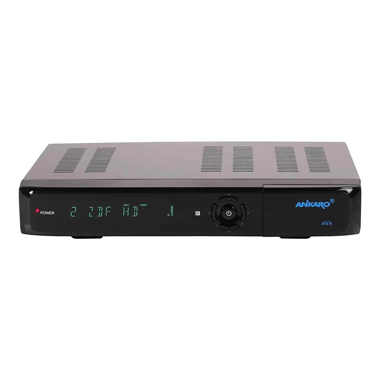 Ankaro AVA Digitaler 4K UHD 2160p Multistream 3D HDR10 USB HDMI DVB-S2X Satelliten Receiver RECANK001