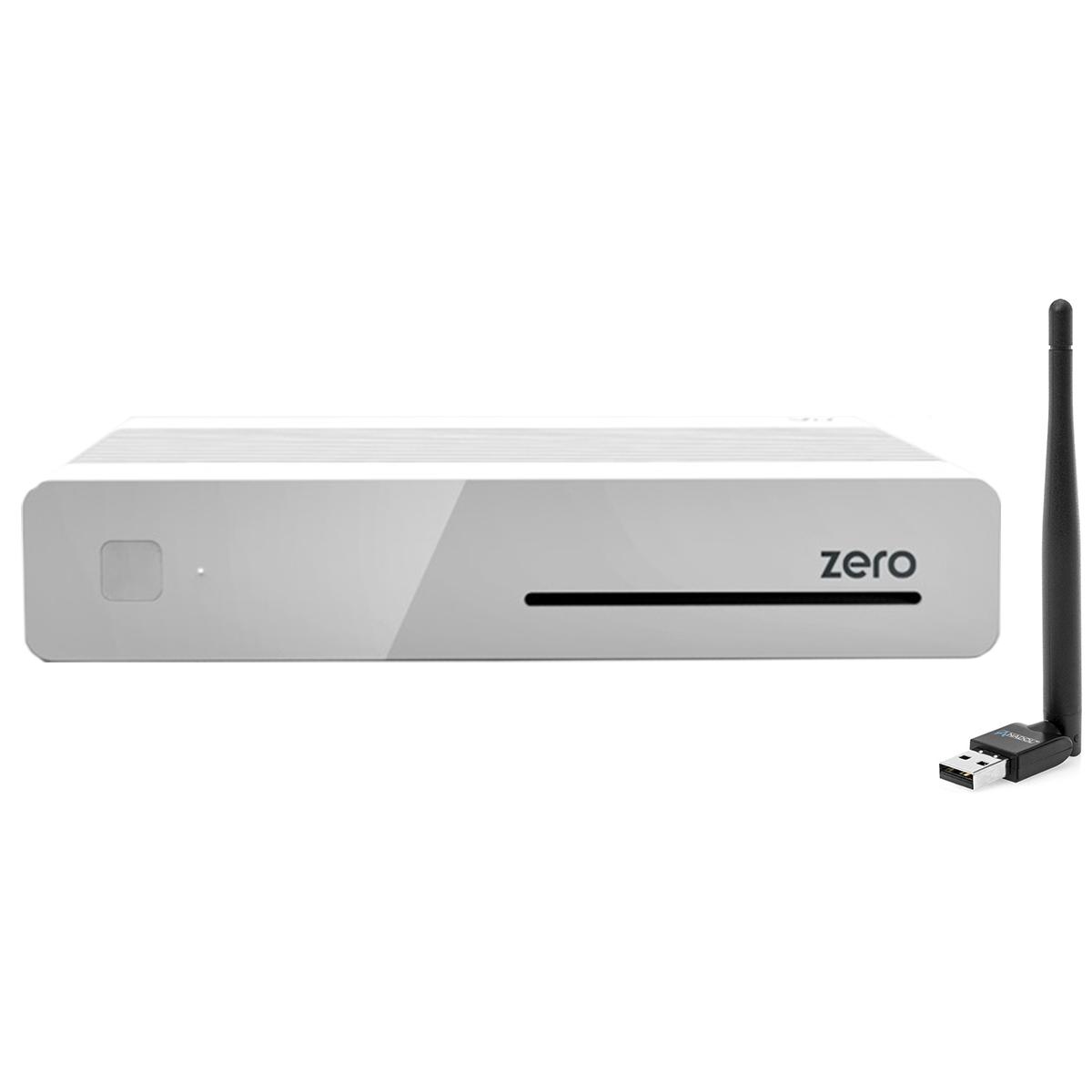 VU+ Plus Zero E2 Linux Full HD Sat 1xDVB-S2 Receiver Weiss + 150Mbit Wlan Stick XXX398