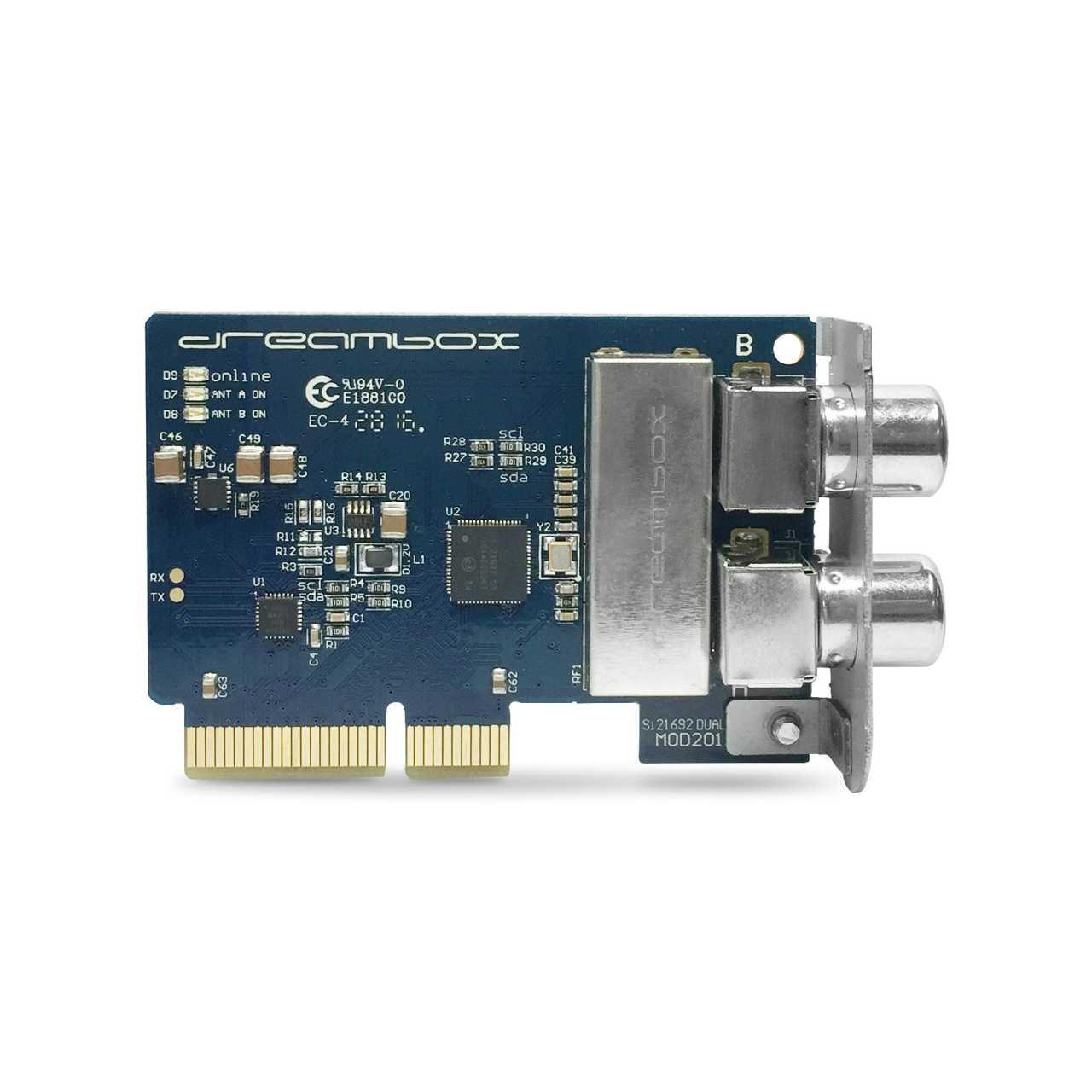 Dreambox Dual DVB-C/T2 Twin Tuner für 820 7020 7080HD 900HD DREZUB028