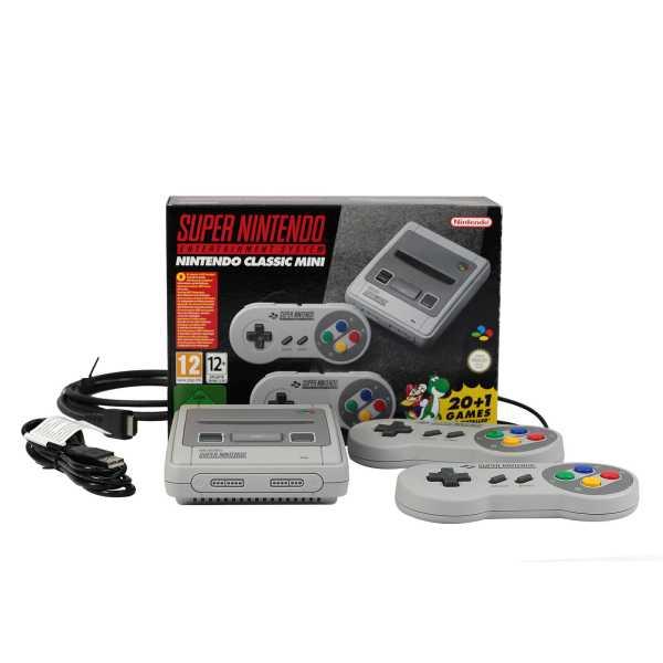 Classic Mini SNES Super Nintendo Entertainment System 16Bit inkl. 21 Spiele