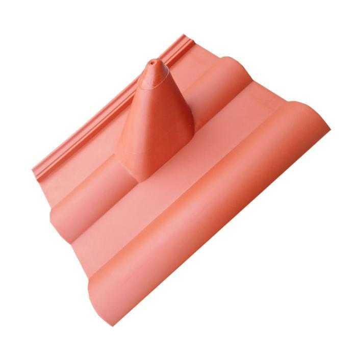 A.S.SAT Dachpfanne Dachziegel PVC Abdeckung Frankfurter Ziegelrot MONWAN-013
