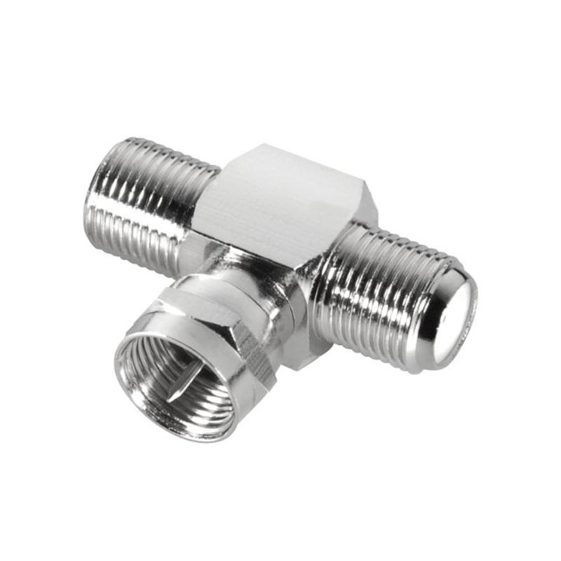 2 x Quick F-Stecker Kupplung Sat Stecker//Buchse Adapter DVB-T Satellit Stecker