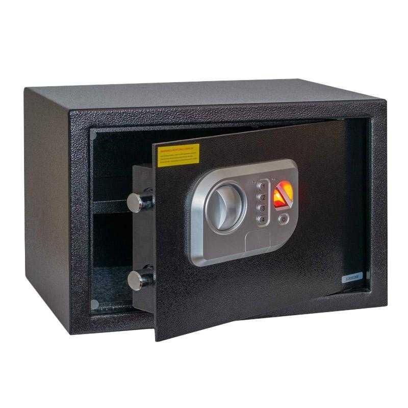 Anadol Tresor Deluxe ? elektronischer Tresor mit Fingerabdruck-Sensor und Zahlenschloss 16L TREANA03