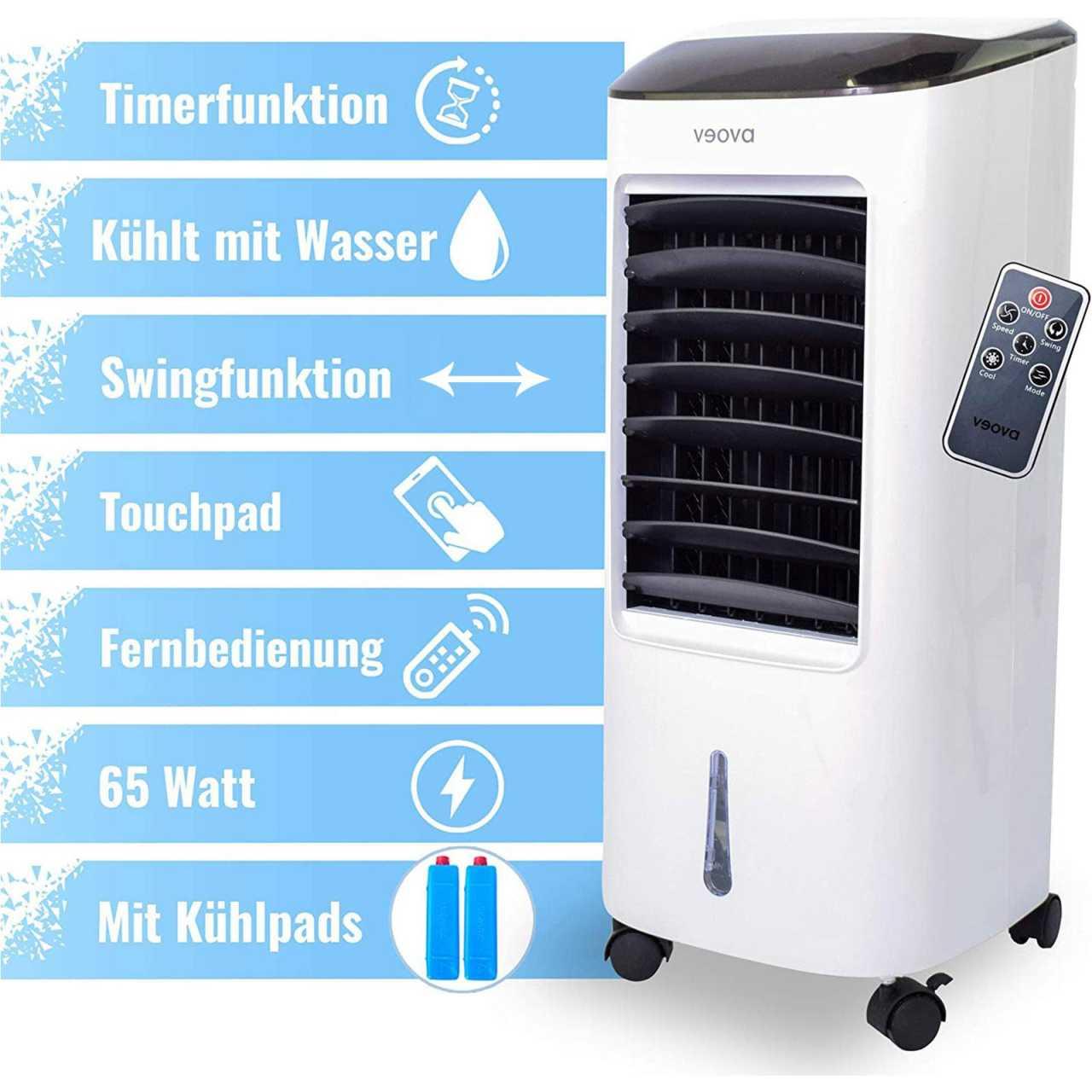 Veova Air Cooler Pro 3in1 Mobiles Klimagerät Klimaanlage Klima Ventilator KLIVEO01