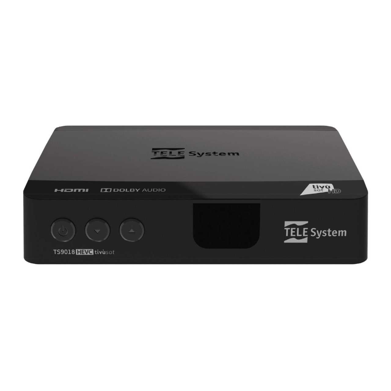 Telesystem TS9018 Full HD HEVC H.265 Smartcard HDMI DVB-S2 Sat Receiver mit Tivusat HD Karte RECTIV018