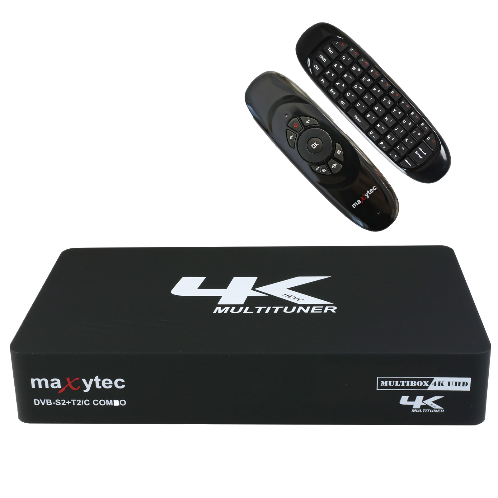 Maxytec Multibox 4K UHD 2160p E2 Linux + Android DVB-S2/T2/C Combo Receiver  + e40 Air Mouse