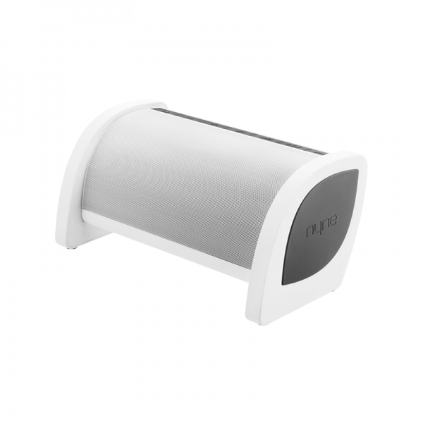Bass Portabler Outdoor Bluetooth NFC 20 Watt Lautsprecher Weiß mit Freisprechfunktion