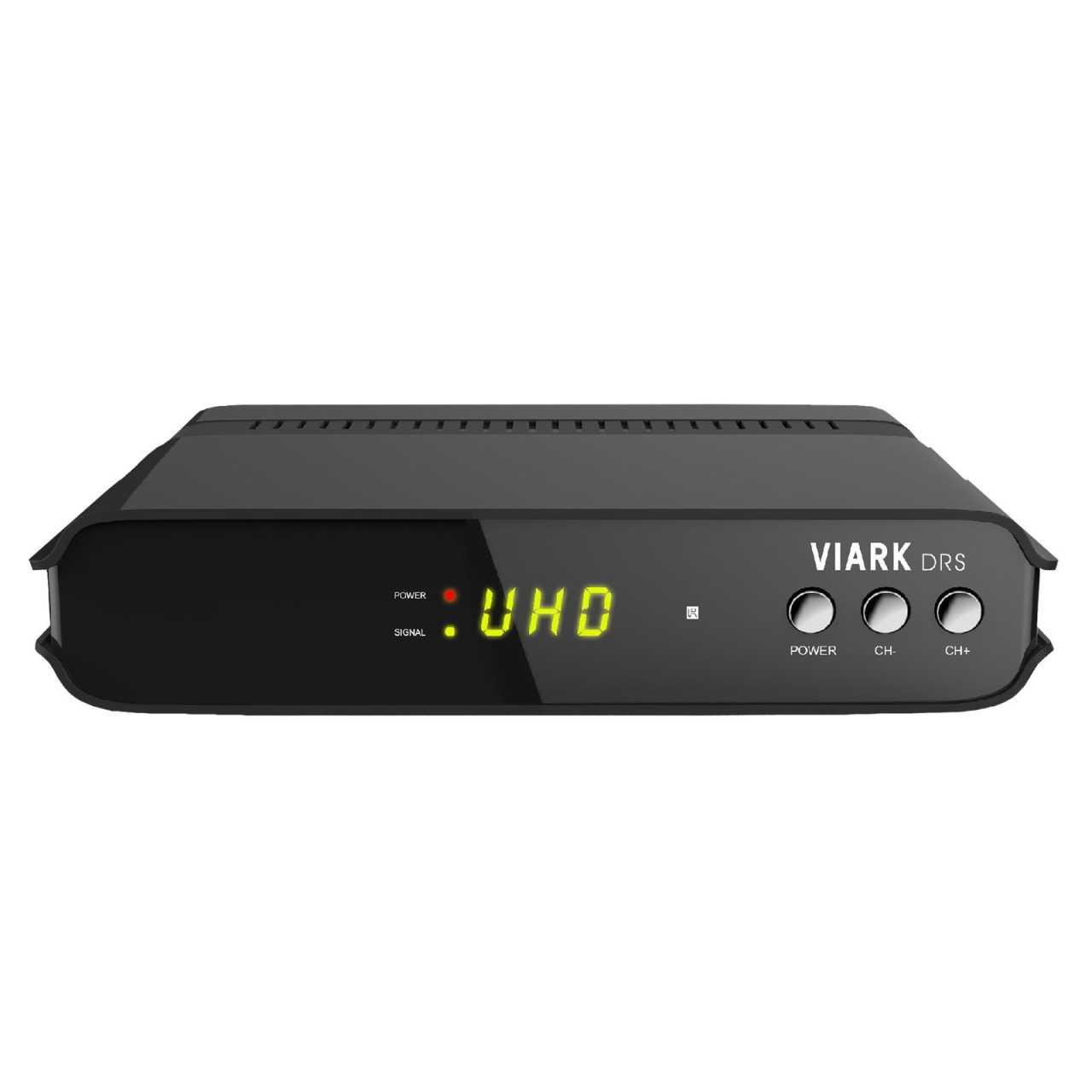 Viark DRS 4K 2160p H.265 Android 7.0 Wifi DVB-S2 Multistream Sat Receiver Schwarz RECVIA005
