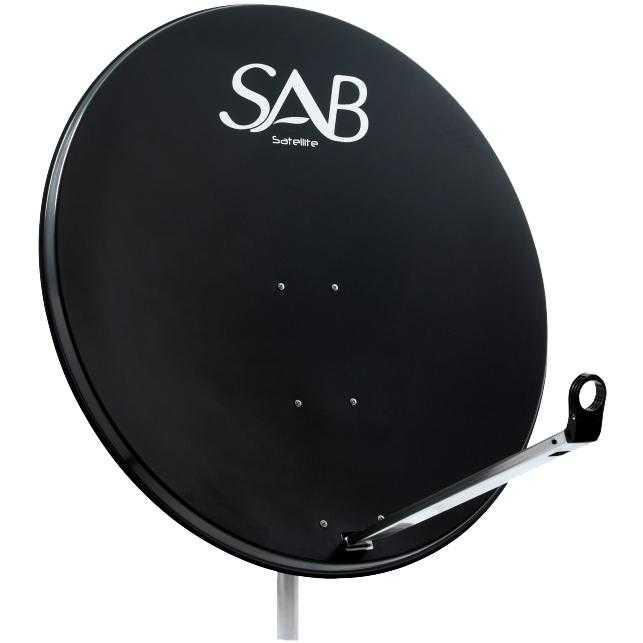 SAB Sat Antenne 100 cm Stahl Satellitenschüssel Sat Schüssel Spiegel Anthrazit MONANT-074