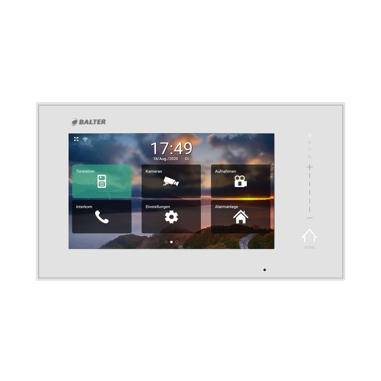 BALTER ERA 7 IP WiFi Touchscreen HD Monitor 2-Draht IP BUS Weiss iOS + Android App BAERAIP71M