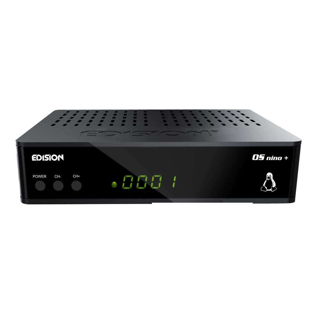 Edision OS Nino Plus S2 Full HD E2 Linux HEVC HbbTV 1080p LAN Sat Receiver RECEDI054